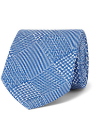 Corbata de pata de gallo azul
