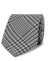 Corbata de pata de gallo en gris oscuro de Tom Ford