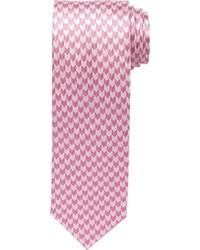 Corbata de pata de gallo rosada