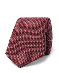 Corbata de pata de gallo rosada de Richard James