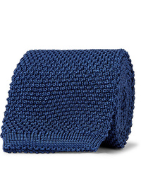 Corbata de punto azul marino de Anderson & Sheppard