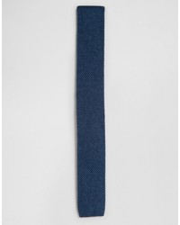 Corbata de punto azul marino de Asos