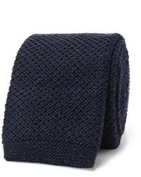 Corbata de punto azul marino de Hugo Boss