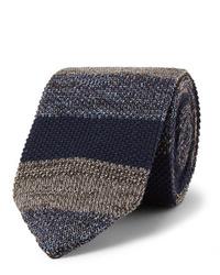 Corbata de punto azul marino de Missoni