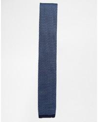 Corbata de punto azul marino de Ted Baker