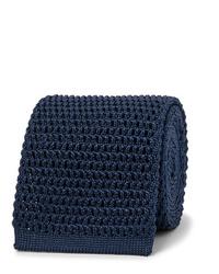 Corbata de punto azul marino de Tom Ford