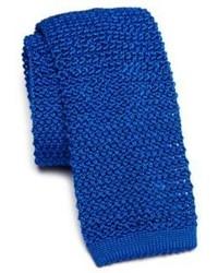 Corbata de punto azul