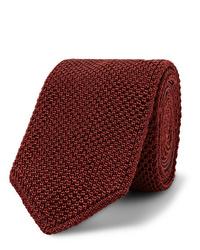 Corbata de punto burdeos de Brioni