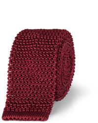 Corbata de punto burdeos de Charvet