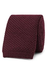 Corbata de punto burdeos de Hugo Boss