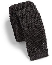 Corbata de punto en gris oscuro