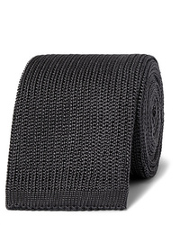 Corbata de punto en gris oscuro de Boglioli