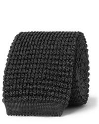 Corbata de punto en gris oscuro de Canali