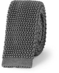 Corbata de punto en gris oscuro de Charvet