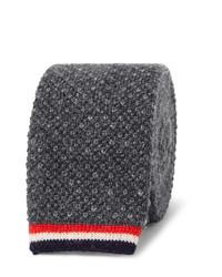 Corbata de punto en gris oscuro de Thom Browne