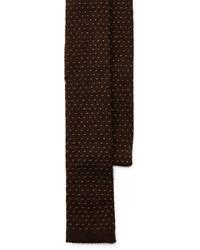 Corbata de punto en marrón oscuro