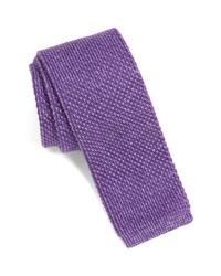 Corbata de punto en violeta