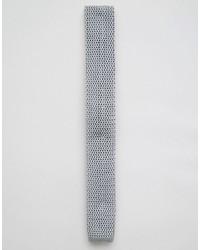 Corbata de punto gris de Asos