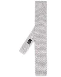 Corbata de punto gris