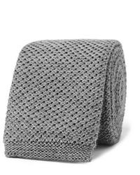 Corbata de punto gris de Hugo Boss