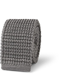 Corbata de punto gris de Lanvin