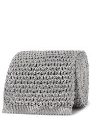 Corbata de punto gris de Tom Ford