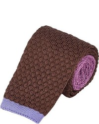 Corbata de punto marrón