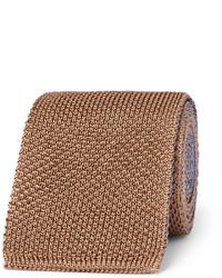 Corbata de punto marrón de Boglioli
