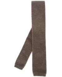 Corbata de punto marrón de Eleventy