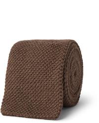 Corbata de punto marrón de Richard James
