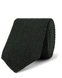 Corbata de punto verde oscuro de Brioni