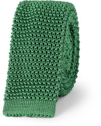 Corbata de punto verde oscuro de Charvet