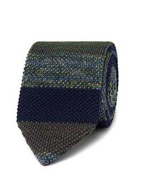 Corbata de punto verde oscuro de Missoni