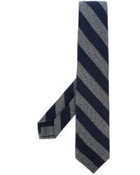 Corbata de rayas horizontales azul marino de Barba