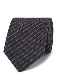 Corbata de rayas horizontales azul marino de Berluti
