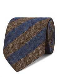 Corbata de rayas horizontales azul marino de Charvet