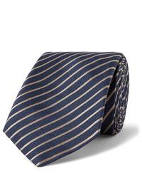 Corbata de rayas horizontales azul marino de Giorgio Armani