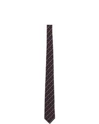 Corbata de rayas horizontales azul marino de Gucci