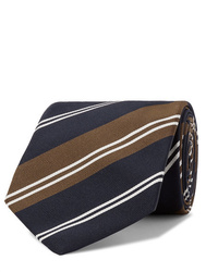 Corbata de rayas horizontales azul marino de Kingsman