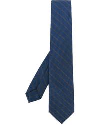 Corbata de rayas horizontales azul de Barba