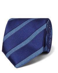 Corbata de rayas horizontales azul de Charvet