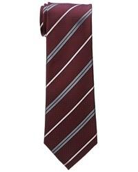 Corbata de rayas horizontales burdeos
