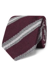 Corbata de rayas horizontales burdeos de Brioni