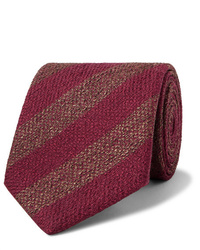 Corbata de rayas horizontales burdeos de Charvet