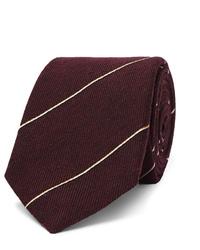 Corbata de rayas horizontales burdeos de Dunhill