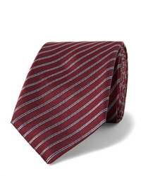 Corbata de rayas horizontales burdeos de Giorgio Armani