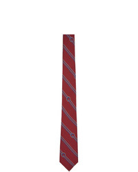 Corbata de rayas horizontales burdeos de Gucci