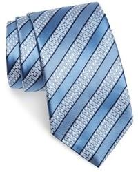 Corbata de rayas horizontales celeste