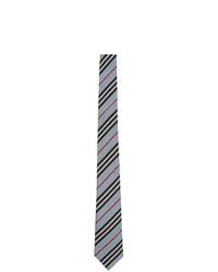 Corbata de rayas horizontales celeste de Burberry