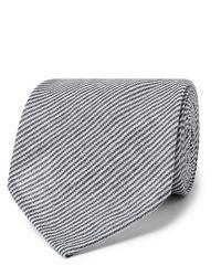 Corbata de rayas horizontales en azul marino y blanco de Rubinacci
